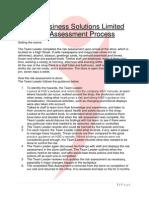 Sample Store Risk Assessment Process