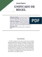Plejanov Hegel