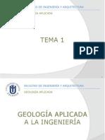 Tema 01 - Geologia Aplicada a La Ingeneria
