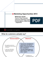 Marketing Opportunities 2013
