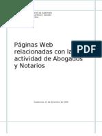 Páginas relacionadas con la actividad de Abogados y Notarios
