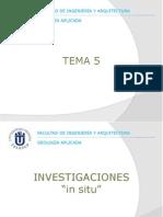 Tema 05 - Investigaciones in Situ 1