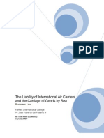The Liability of International Air Carriers and the Carriage of Goods by Sea (Report)