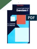 A Pratical English Grammar - Exercises 1