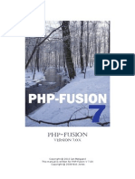 Php Fusion 7 Manual UK