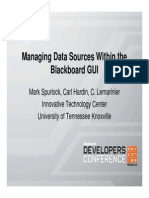 Blackboard Manage Data Sources