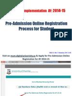Pre-Admission Online Registration Process for Students