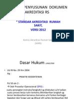 Penyusunan Dokumen Akrdts Versi 2012 Rt