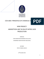 ABSROPTION UNIT IN DILUTE NITRIC ACID PRODUCTION