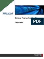 Cricket FrameGrabber Users Guide - HUG-CTFGXX-002 - Firmware 1.2
