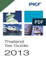 Thailand Pkf Tax Guide 2013