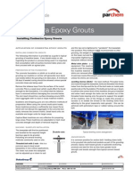 Application Guide for Epoxy Grouts