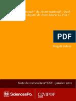 Vision Du Monde Du FN - Apres Jm Le Pen