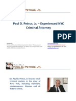 Paul D. Petrus, Jr. – Experienced NYC Criminal Attorney