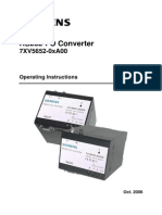 Siemens RS232-FO Converter 7XV5652_Manual
