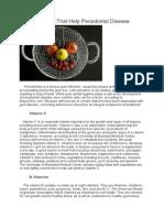 Vitamins That Help Periodontal Disease