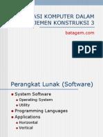 Aplikasi Komputer Dalam Manajemen Konstruksi 3