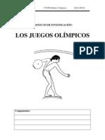 proyecto investigacion LOS JUEGOS OLÍMPICOS