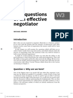 Five Questions of an Effective Negotiator