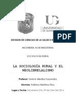 Neoliberalismo y Sociologia Rural