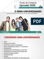 Convenio Sena - Universidades