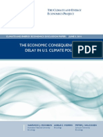 The Economic Consequences of Delay in U.S. Climate Policy