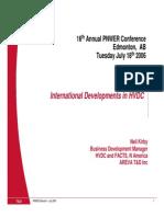 Areva 2006 - International Developments in HVDC