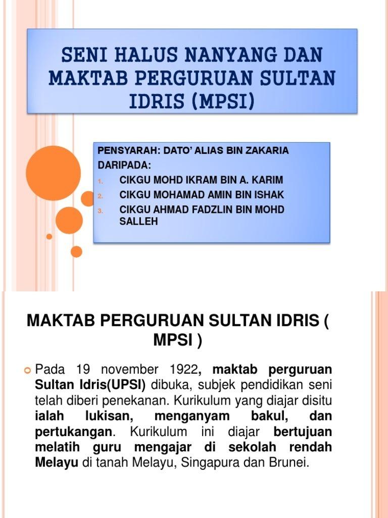 Akedemik Seni Halus Nanyang Maktab Perguruan Sultan Idris