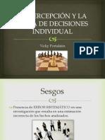 La Percepción y La Toma de Decisiones Individual