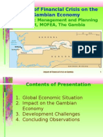 Impact of Financial Crisis on Gambia-Update Oct 2009