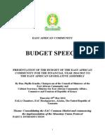 East African Community BUDGET SPEECH 2014-2015