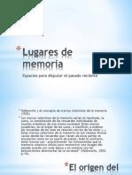 Lugares de Memoria, Clase Diplomado