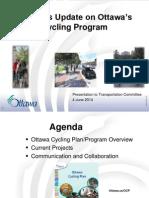 Update on Ottawa's Cycling Program - June 4 2014