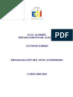 NIVEL INTERMEDIO LIBRES 2009-10
