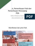 PDA Gejala Klinis, Pemeriksaan Fisik dan Pemeriksaan Penunjang.pptx