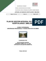 Plan de Gestión Integral de Residuos Hospitalarios y Similares Clínica Veterinaria Uptc