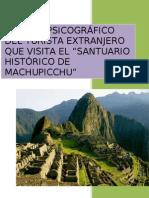Perfil Psicográfico del Turista extranjero que visita el Perú