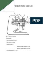 Mecanismul surub-piulita