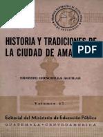 Chinchilla Aguilar - Historia de Las Tradiciones de Amatitlan