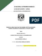 América Latina hacia las sociedades del conocimiento *Avances 2009_11_20