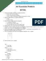 Lista de Exercícios, HTML