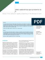 Villalaín, JD, Estudio de La Rigidez Cadavérica Que Presenta La Síndone de Turín