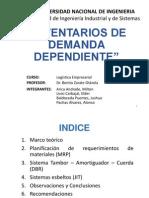 Trabajo 5 - Inventarios de Demanda Dependientes