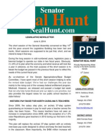June Newsletter from Senator Neal Hunt