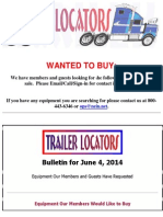 Wanted to Buy Bulletin - June 4, 2014