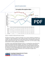Russia and the Corruption Perception Index