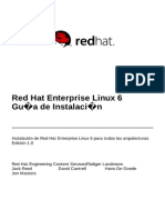 Red Hat Enterprise Linux 6 - Installation Guide Es