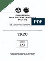 Sbmptn 2013 Tkdu Kode323