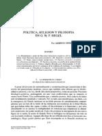 Ginzo Fernándes Religión y Política Hegel