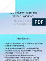 Intra-Industry Trade - SL
